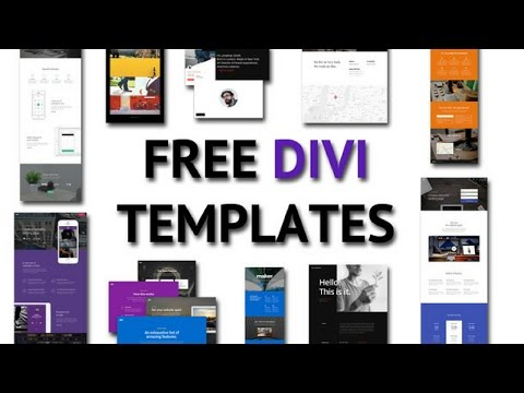 Free WordPress Page Templets to make a website faster with Divi 3 - How To Make A Website #6