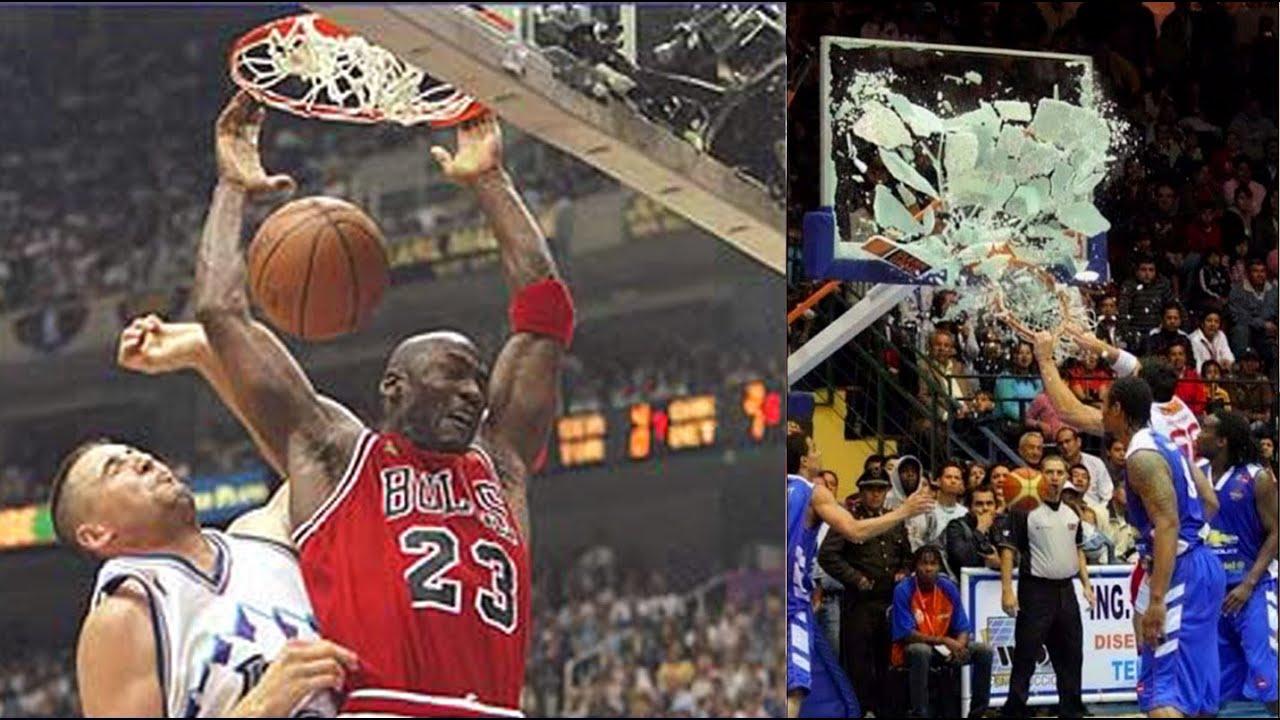 "NBA Top 10 ""BROKE THE BACKBOARD"" Dunks of All Time"