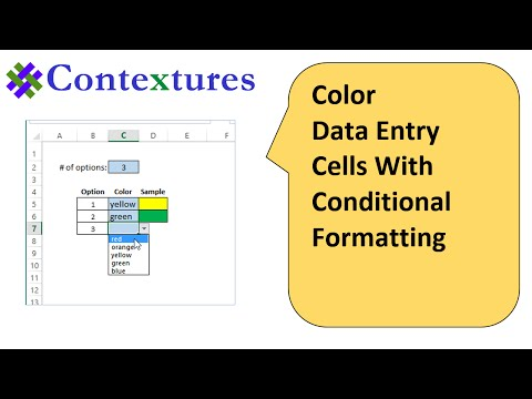 Color Excel Data Entry Cells With Conditional Formatting