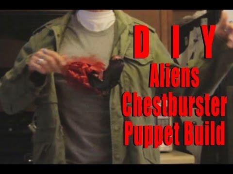 Alien Chestburster Puppet Tutorial by Christopher Moonlight