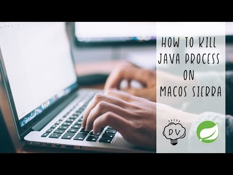How to kill Java process on macOS Sierra