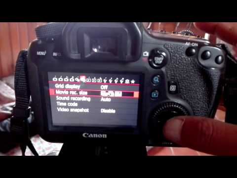 canon 6d manual setting