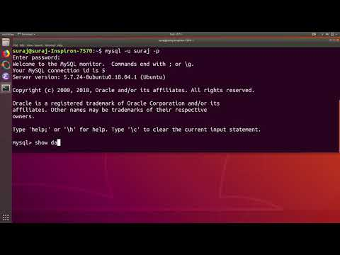 MySQL Tutorial 1 : Create and Delete Database in Ubuntu Linux