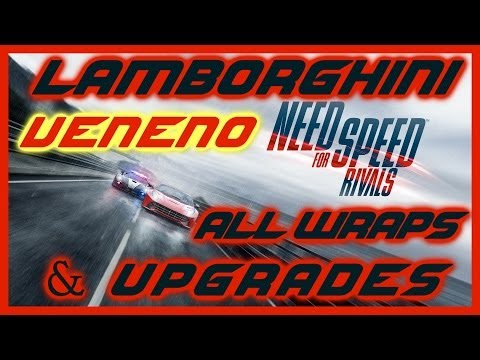 NEED FOR SPEED RIVALS PS4 | LAMBORGHINI VENENO FULLY UPGRADED | ALL WRAPS | TIME TRIAL & RACE | HD