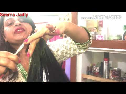 3 step haircut in long hair/front layer with steps and back 3 step haircut/Seema Jaitly