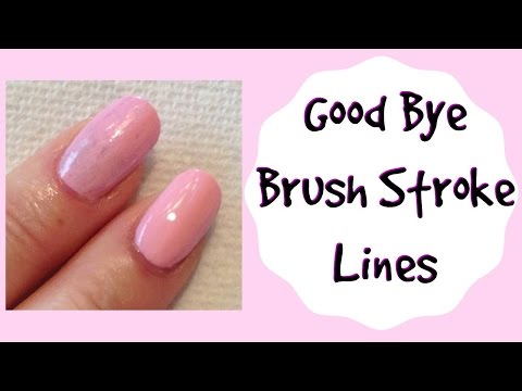 Prevent Brush Stroke Lines in Light Color Nail Polish Tutorial