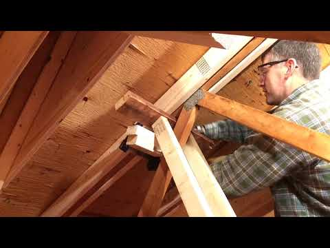 Attic Truss Repair #13: Final lift on Truss #8