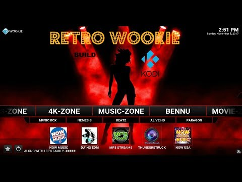 Retro Wookie Build for KODI - New Add-Ons!! GREAT Add-Ons - Pyramid, Mobdina Nov 2017