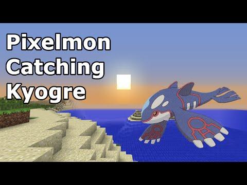 Pixelmon Catching Kyogre | Capturing Kyogre in Pixelmon