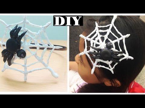 DIY Halloween Costume   How to make Spider Web Headband