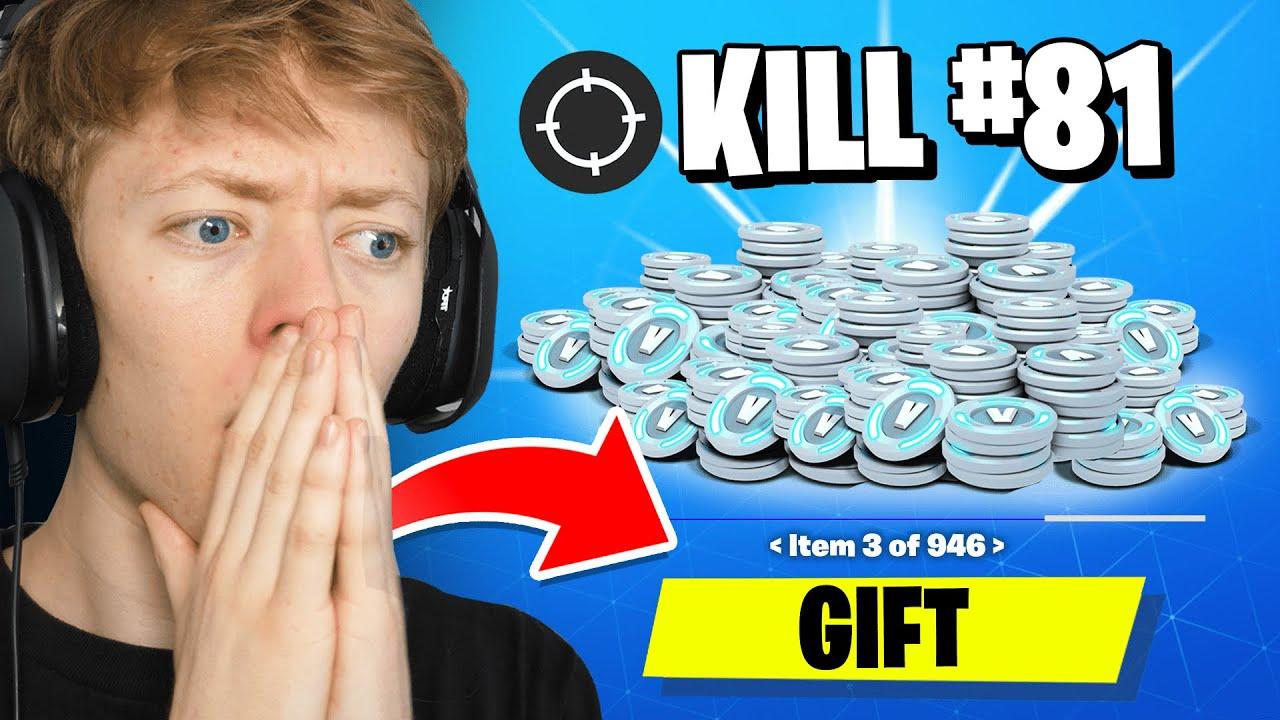 Gifting Fortnite Streamers 10,000 VBucks For Every Kill