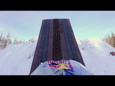 Hucking a Massive Double Backflip on a Snowmobile | Daniel Bodin POV