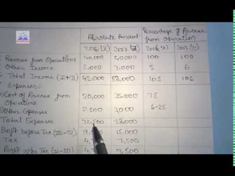 Class 12 Accounting - Common Size Statement Analysis of Financial Statements