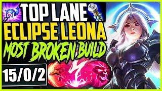 TOP LANE ECLIPSE LEONA! ONE SHOTS? EASY! MOST BROKEN LEONA BUILD! TOP Leona vs Yasuo S9 Gameplay