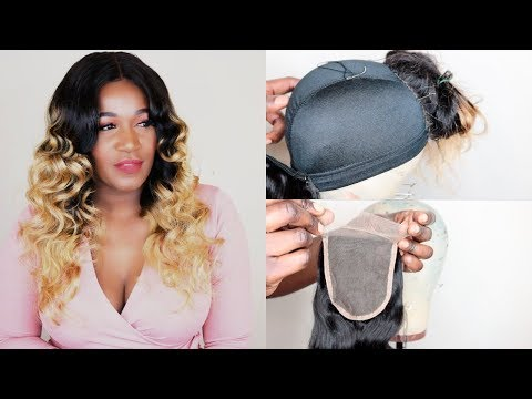 HOW TO MAKE A WIG WITH A LACE CLOSURE | CREATE THE PERFECT OMBRE WIG|VANLOV HAIR