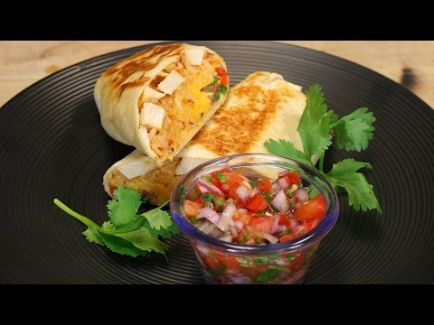 Grilled Stuffed Chicken Burrito - chicken burrito - mexican recipe - healthy recipe - dinner recipes