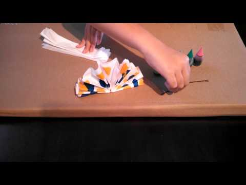 How to make a tie dye bow