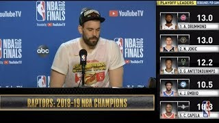 Marc Gasol Press Conference   NBA Finals Game 6