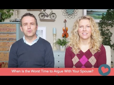 When Is the Worst Time to Argue With Your Spouse?