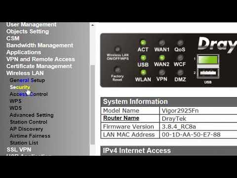 How to Change Wi Fi Password | Draytek Vigor Router