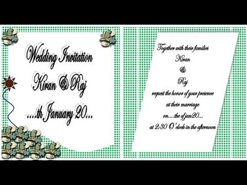 How to make Wedding invitation on Microsoft Word 2007 | step by step