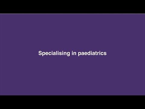 Specialising in paediatrics