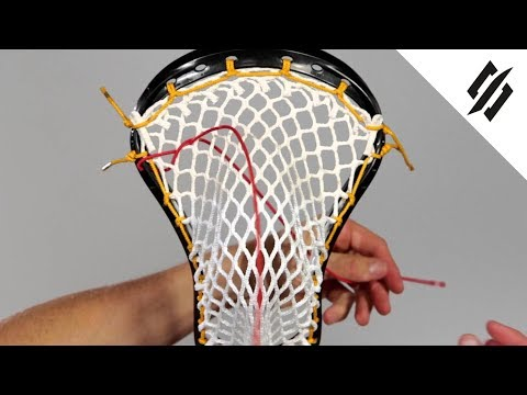 How to String a Lacrosse Head | Shooting Cord | Step 10 | StringKing
