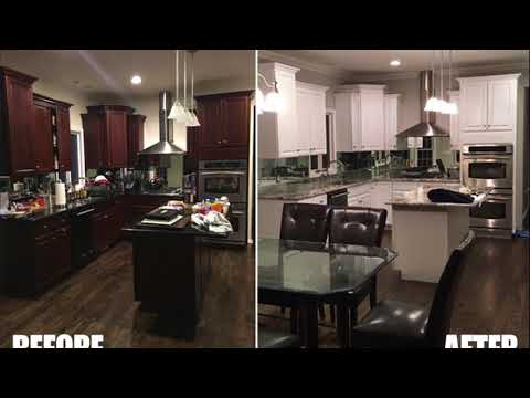 Cabinet Refinishing Before & After Images