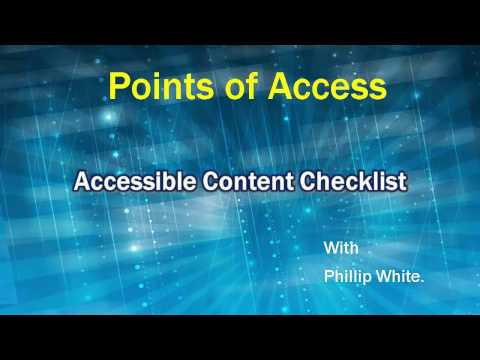 Faculty Accessibility Checklist: 7. Picture or untagged pdf files