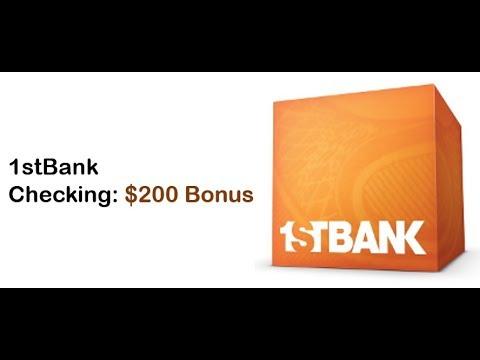 FirstBank Checking Promotion: $200 Bonus