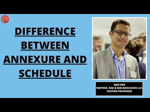 Difference between Annexure and Schedule
