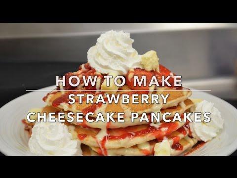 Pancake Month at Caesars AC: Strawberry Cheesecake Pancakes