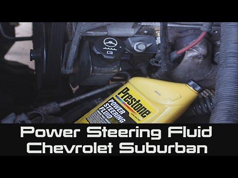 How to change Power Steering Fluid in Reservoir on Chevrolet Suburban