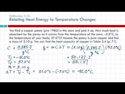 3.12 Energy & Heat Capacity Calculations