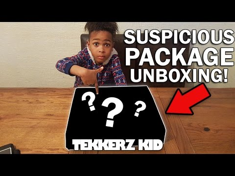 HAS SOMEONE SENT ME A BOMB!!?? | Suspicious Package Unboxing!! | Tekkerz Kid
