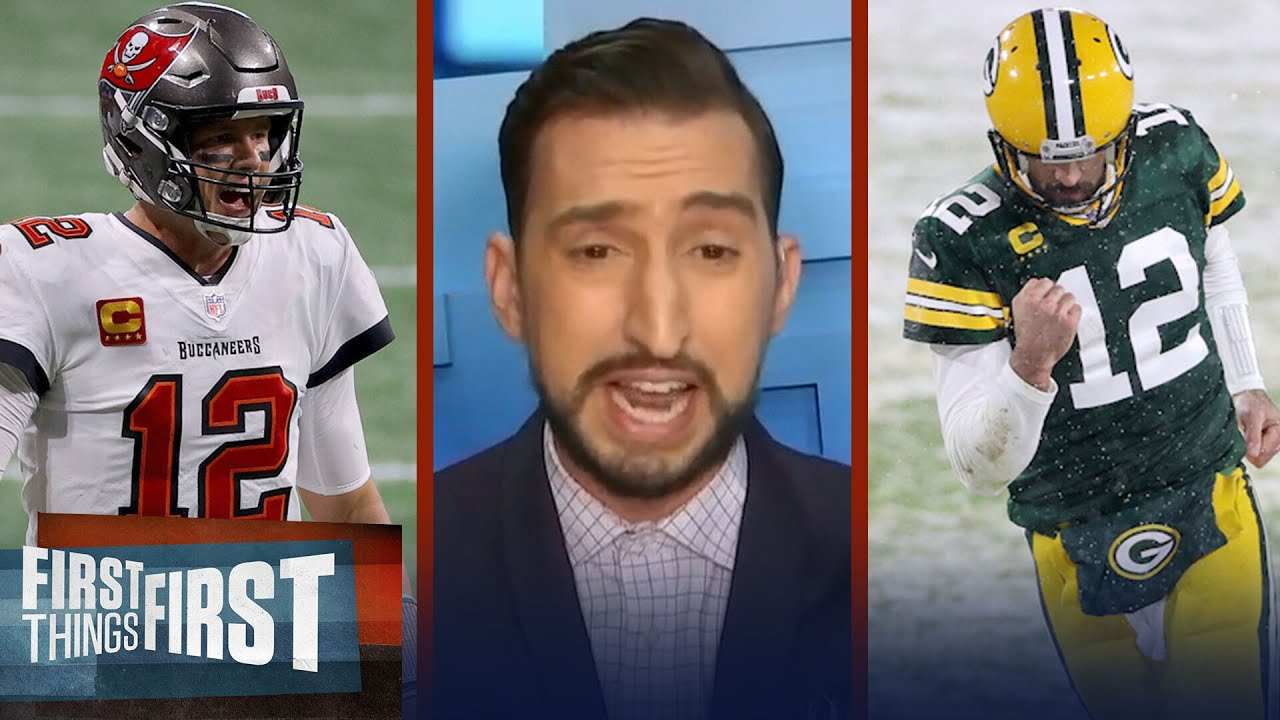 Bucs-Packers NFC Championship is biggest game for Rodgers in 6 yrs — Nick | NFL | FIRST THINGS FIRST