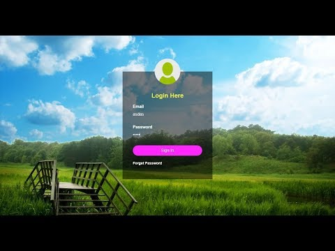 Design Transparent Login Form in HTML & CSS - Html Login Page Design - Login form Design Source Code