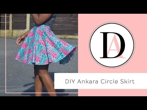 DIY Ankara Mini Circle Skirt!