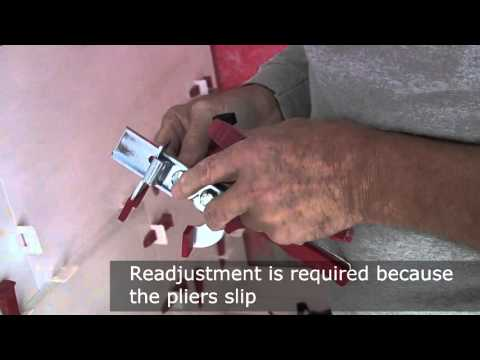 How to adjust metal pliers for tile leveling system by Perfect Level Master™