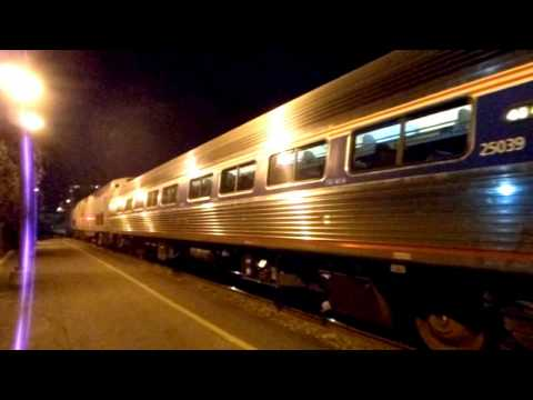 Amtrak 91 Silver Star arriving at speed into Raleigh NC