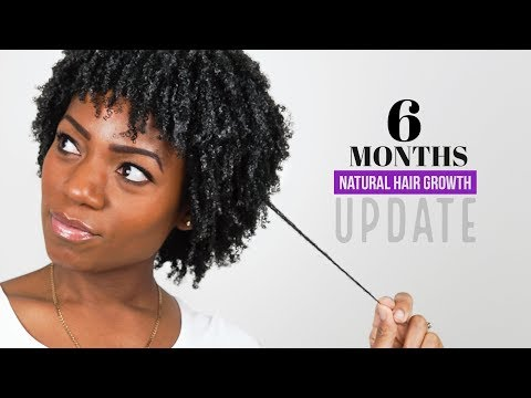 6 Months Natural Hair Growth (Length Check) (Hair Update)  (Oct 2017)