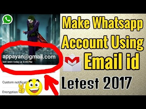How to Make Whatsapp account using Email id No mobile number required(Not working)
