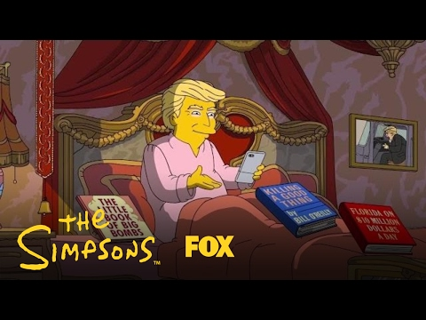 watch Donald Trump's First 100 Days In Office | Season 28 | THE SIMPSONS