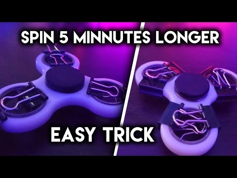 How To Make ANY FIDGET SPINNER SPIN 5 MINUTES LONGER (Paperclip Spinner Trick)