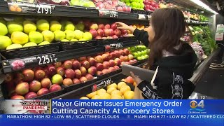 Miami-Dade Limiting Capacity In Grocery Stores