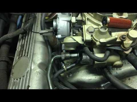 Changing carburetor fuel filter