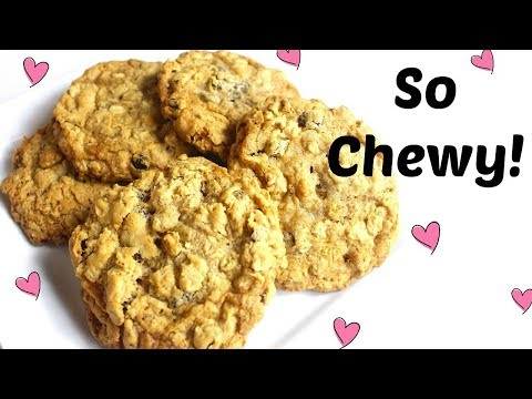 Chewy Oatmeal Raisin Walnut Cookies ( Gluten + Dairy free / Vegan options!)