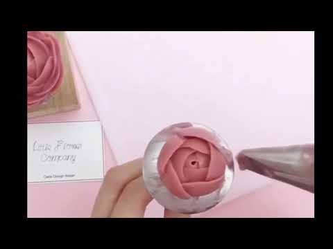 Basic Peony buttercream flower tutorial