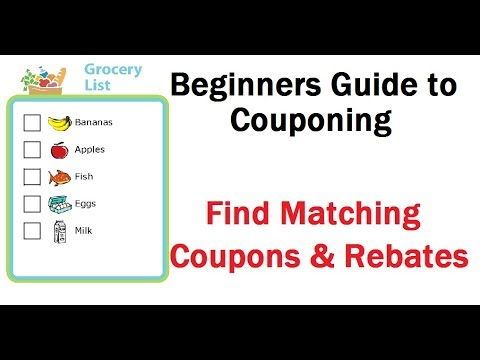 Groceries - Find Matching Printable Coupons & Rebates Beginners Guide to Couponing