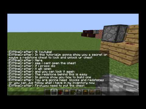 [1.5.2] MineCraft: Add a lock to your CHEST! (Tut)